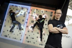 Valo Motion offer mixed reality attractions for climbing walls