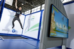 ValoJump is mixed reality trampoline game for trampoline parks