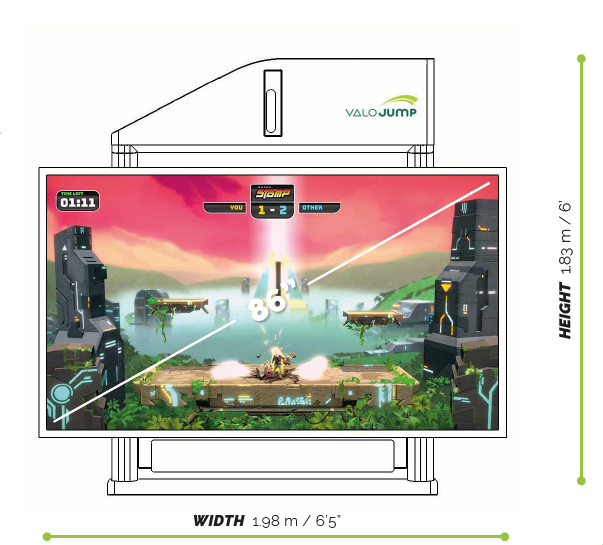 ValoJump Model 86 – interactive trampoline game platform