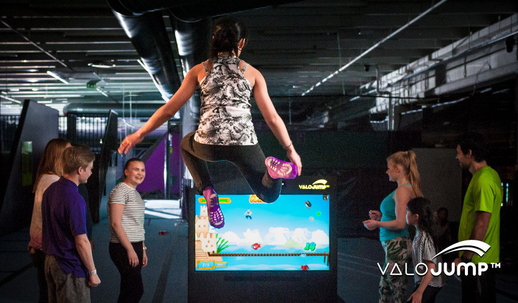 Toywatch for ValoJump AR trampoline game for indoor locations and trampoline parks