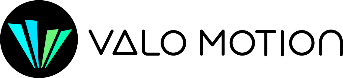 Valo Motion logo – AR game developer for indoor locations and trampoline parks