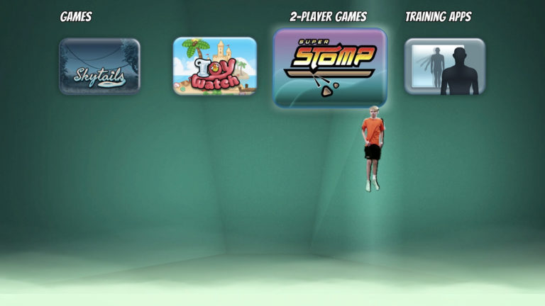 Super Stomp for ValoJump AR trampoline game for indoor locations and trampoline parks