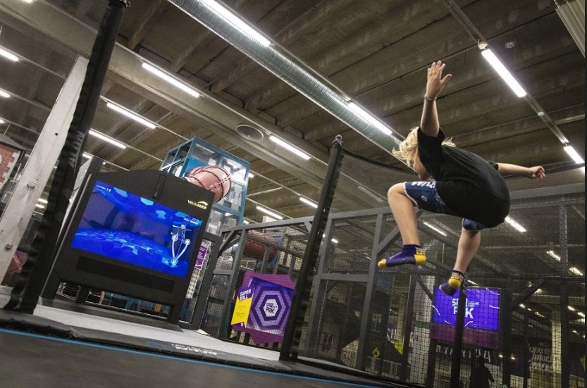 Trax for ValoJump AR trampoline game for indoor locations and trampoline parks