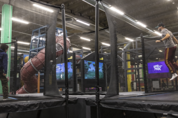 Skytails Race for ValoJump AR trampoline game for indoor locations and trampoline parks