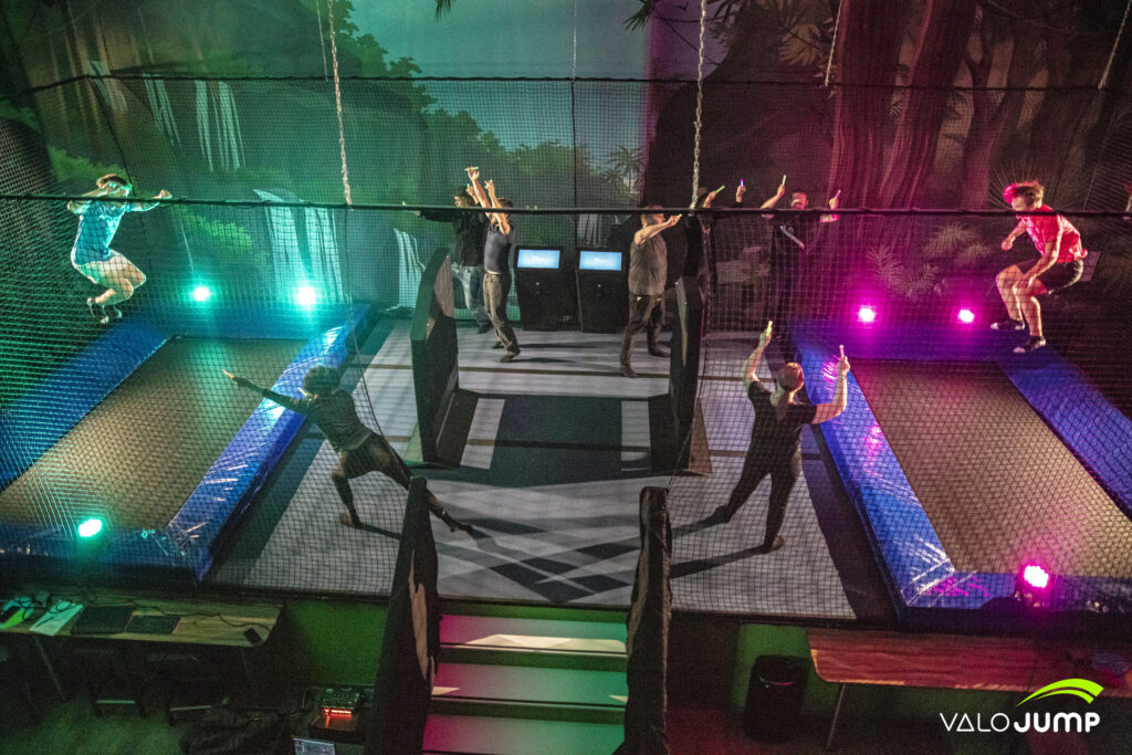 Jumpball for ValoJump AR trampoline game for indoor locations and trampoline parks